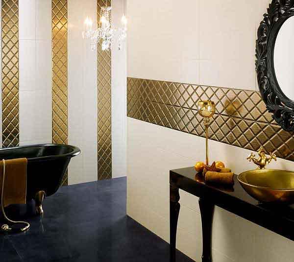 Decorazioni dorate | Ceramiche Bagno