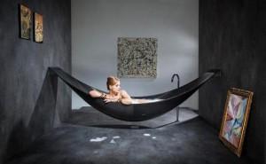 Vasca da bagno con design amaca