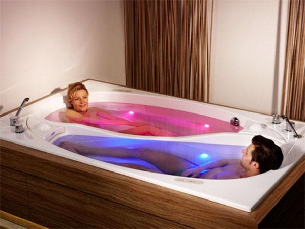 Doppia vasca da bagno doppio rilassamento ceramiche bagno - Tinozza da bagno ...