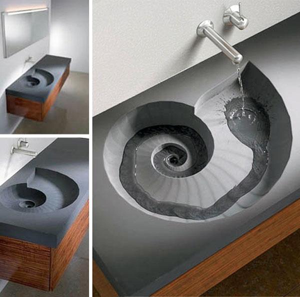 Lavabo a spirale ceramiche bagno - Come lucidare una vasca da bagno opaca ...