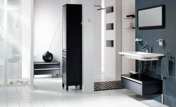 Il bianco e il nero funzionano per il bagno ceramiche bagno - Bagno bianco e nero ...